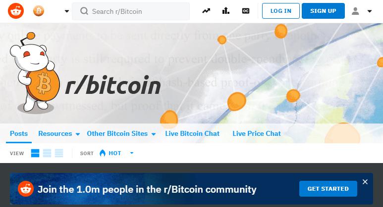 @Bitcoin Cummunity op Reddit