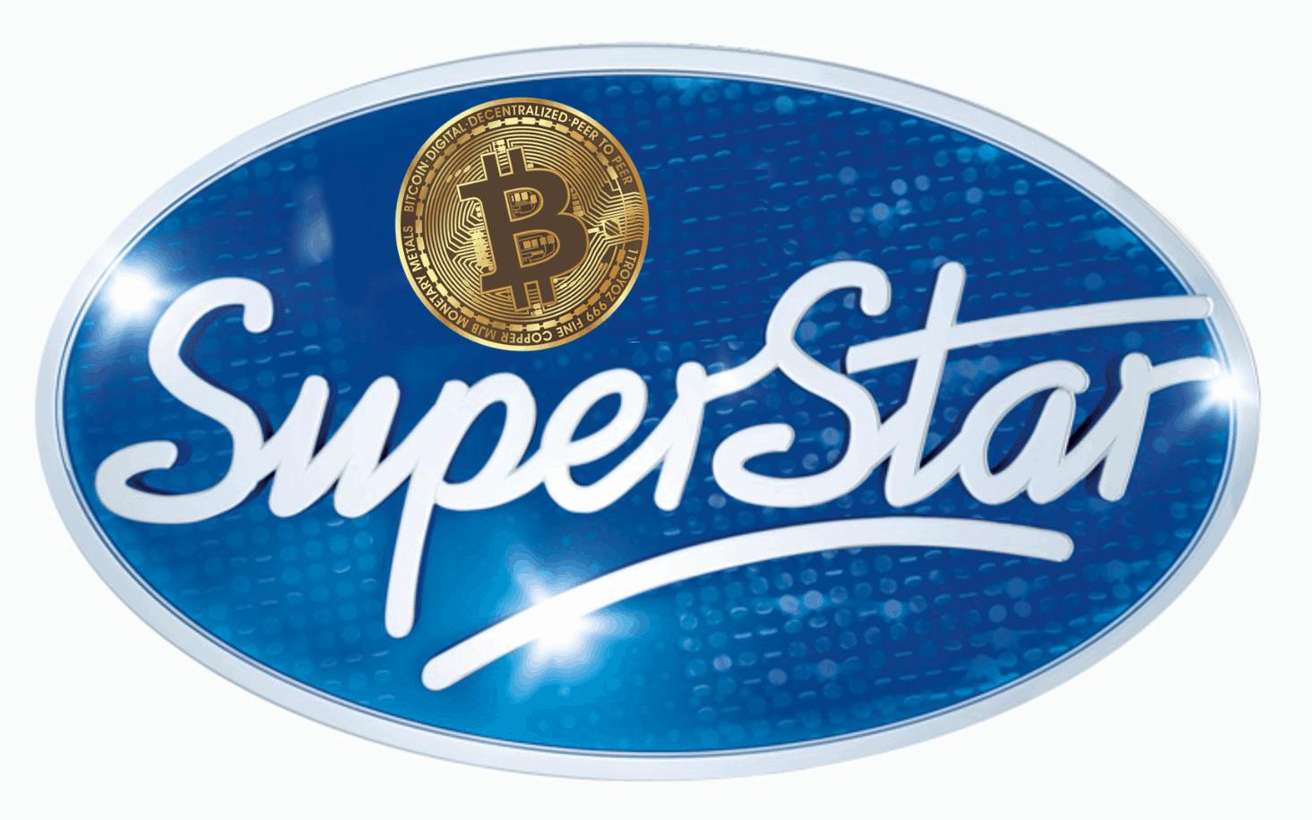 Bitcoin SuperStar logo kleur 1 BTC Crypto