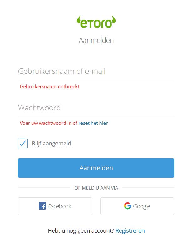etoro register form nl empty